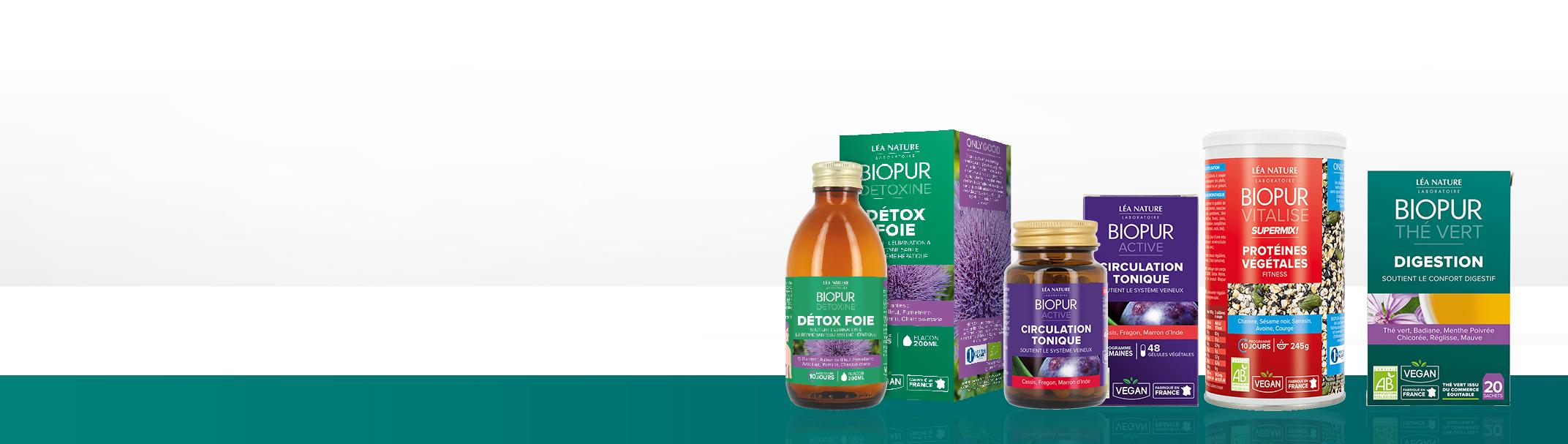 Compléments alimentaires BIOPUR®, 100% bio et vegan