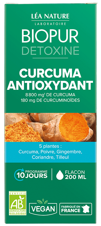 Cocktail Detoxine Curcuma Antioxydant